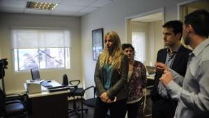 Julian Alvarez inauguro un nuevo CAJ en Remedios de Escalada