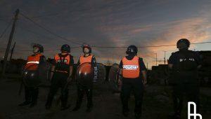 Operativo policial en Lanús