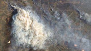 Impactante fotografía que revela la dimensión de los incendios.