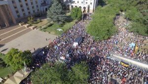 Manifestación contra las modificaciones contra la Ley de minería