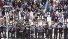 Incidentes en la manifestación por la ley Minera